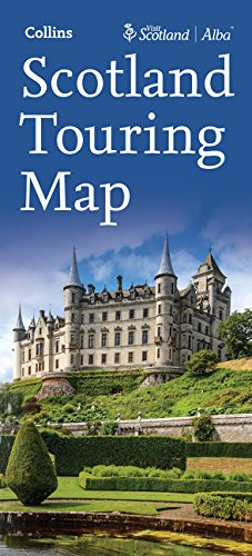 Escocia, mapa de carreteras Touring map 1:300.000. Collins