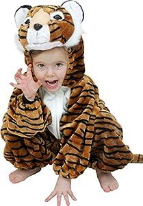 AptafêtesCS850055/104-Disfraz de Tigre de Peluche, Traje para niños, Talla 116cm(4/5años)