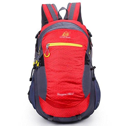 Sacchetto Di Alpinismo Da 30L Escursionista Dello Zaino Dello Sport Esterno , orange red
