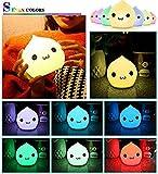 kkaaee-Veilleuse-LED-avec-7-niveaux-de-luminosit-enfants-en-Silicone-LED-Ampoule-Veilleuse-tactile-lampe-dambiance-avec-3-piles-AAA-pas-reu-dans-la-livraison-intensit-variable-Blanc-chaudchangement-de
