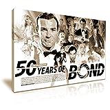 007Film Leinwand James Bond 50Jahre Wand Kunstdruck Bild 76x 50cm