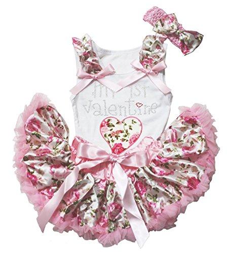 Petitebelle Baby Mädchen (0-24 Monate) Bekleidungsset weiß weiß M Gr. M, weiß (24 Monate Girl Valentine Outfit)