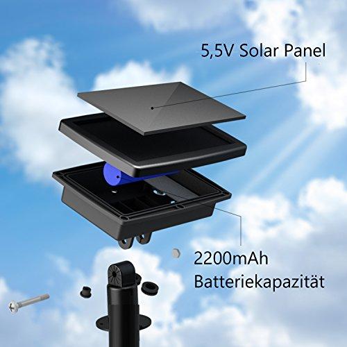 Tobbiheim Solar Lichterkette mit USB Ladung 20 LED Laterne 5 Meter Lampions Super Lange Beleuchtungszeit Wasserdicht IP68 Outdoor Garten Außenbeleuchtung – Warmweiß - 4