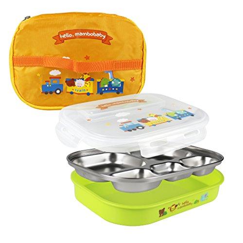 Oldpapa porta pranzo bento lunchbox ermetico contenitore sicuro - 3 scomparti
