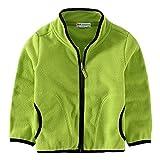 Baby Kid Little Boy Girls Casual Zipper Fleece Jackets Coat Outerwear 2-3 Years Green