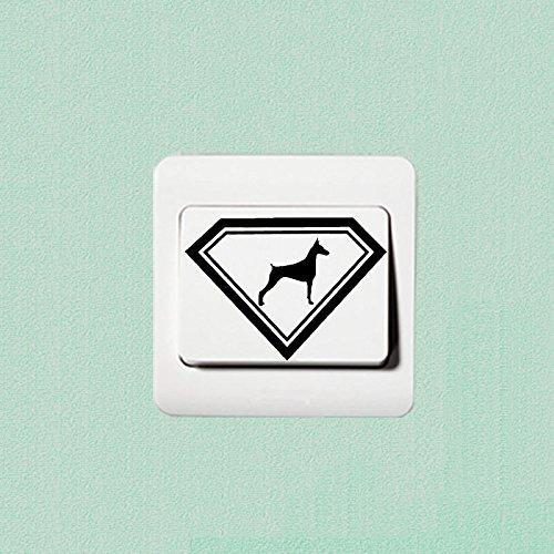 Preisvergleich Produktbild Dobermann Liebe Hund Fashion Vinyl Aufkleber Dekoration Schalter Aufkleber 2 SS 0490