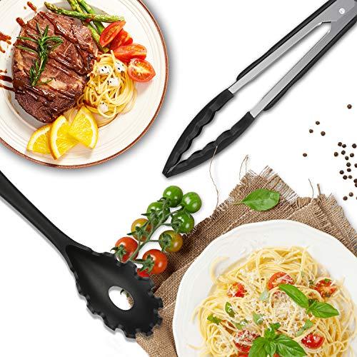 Mr Quality utensili da cucina in silicone antiaderente Set di utensili da cucina in lavastoviglie Set da cucina resistente al calore - 4