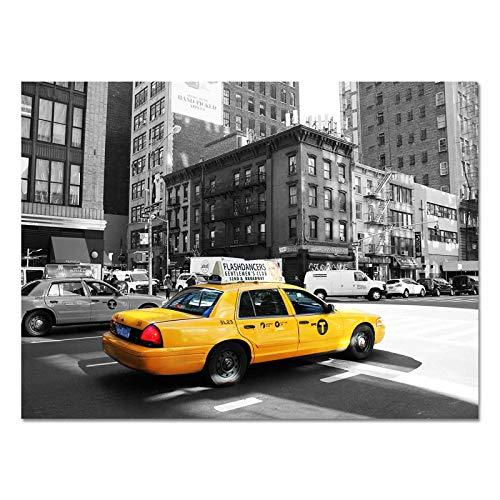 DESIGN82 Berlin Design Poster Druck auf Echtem Fotopapier - New York | USA | Amerika | Big Apple | Manhattan, Design:Design 4, Format & Größe:70 x 50 cm | Rahmenformat