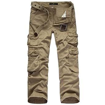 Vantasy® Pure Vintage Trouser Cargo Herren Hose lang XS-XL (XL / 90-94cm Taille / Asian 38, Khaki)
