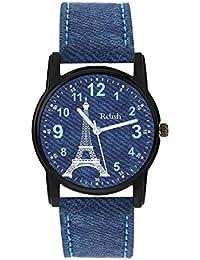Relish Analog Eiffel Tower Blue Denim Dial Watch for Girls & Women RE-L093DB