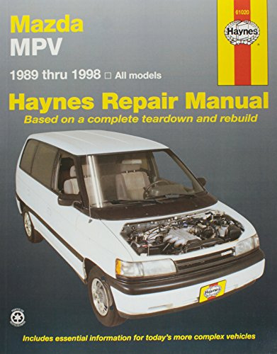 Mazda MPV Automotive Repair Manual 1989 through (1998 Mazda Mpv Van)