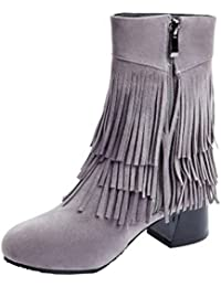 RAZAMAZA Damen Schuhe Klassischer Stiefel Winter Shoes (34 As, Warm Yellow)