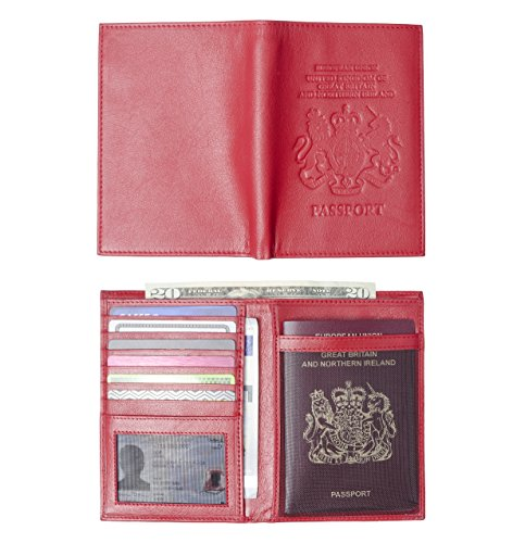 ba43cf359ada Genuine Leather United Kingdom Passport Billfold