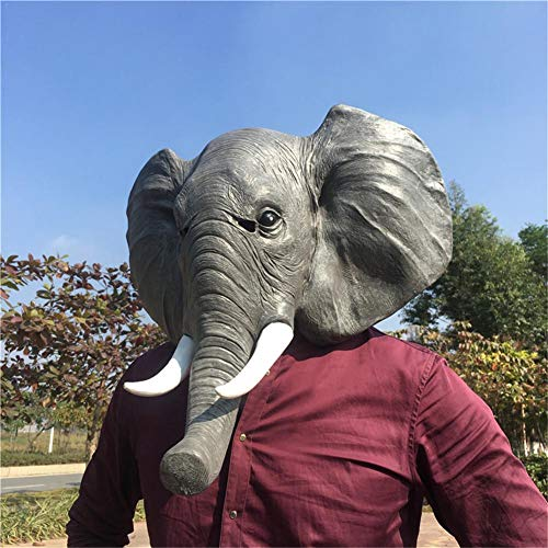 Adulto Cara Completa Halloween Máscara Látex Elefante Perro Paloma Cabeza Máscara Cosplay Party Máscara Suministros