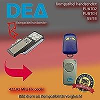 Emisor manual 433.92MHz para DEA punto 2, DEA punto 4, DEA Genie antriebe