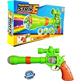 Toykart Musical Strike Electric Gun Toy With 3D Projection Lights For Kids (Multi Color)