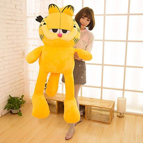yfkgh Garfield Puppe, Puppe Plüschtier, Kissen Kaffee Katze, süß süß, Kind Geburtstagsgeschenk Junge@Hellgelb_60 cm (Grusskarte schreiben) -
