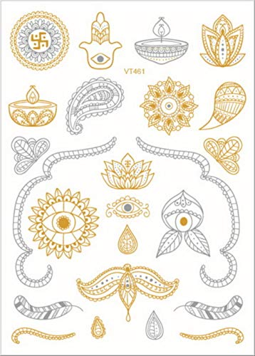 Wfq tatuaggio gold silver face tattoo waterproof bronzing freckles make up body art flash tattoo sticker eye decals bride tribe party vt421
