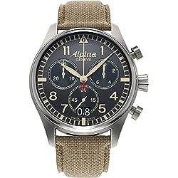 Alpina Geneve Startimer Pilot AL-372BGR4S6 Cronógrafo para hombres Reloj Aeronóautico