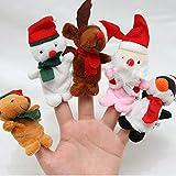 Uokoki 5pcs 7cm de Navidad marioneta de mano de las figuras dedo Incluso Kidss muñeca de la mano de Navidad Incluso