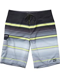 Billabong Boy's (2-7) All Day X Stripe Boardshorts Charcoal 3T