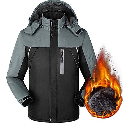 Pzj® uomo cappotto parka invernale, giacca lungo cappotto jacket giacche cappotti con cappuccio