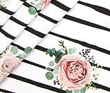 StickandStyle 0,5m Jersey Streifen Blumige Aussichten Rosen