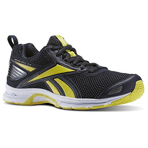 Reebok Triplehall 5.0, Chaussures de Running Entrainement Homme Noir (Smokey Black / Hero Yellow / Black)