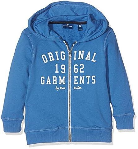 TOM TAILOR KIDS Jungen Kapuzenpullover Hooded Sweat Jacket, Blau (Midsummer Blue 6069), 98 (92/98)