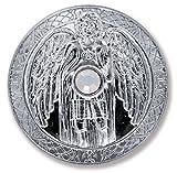 Talisman Schutzengel Engeltaler Erzengel Gabriel, Ø 27mm Taler Silber mit Swarovski Elements, Glücksbringer, Glücksmünze