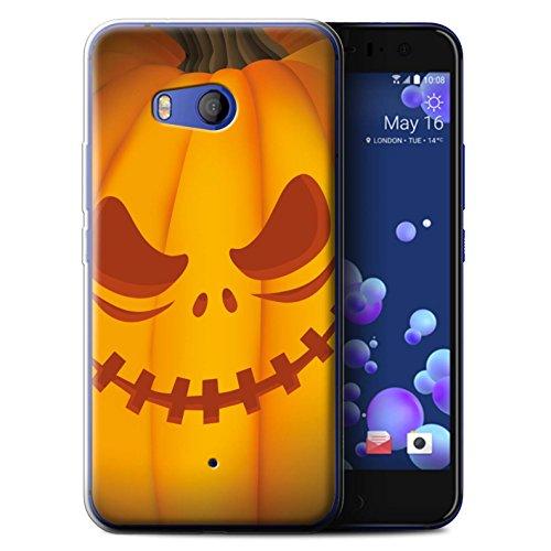 (Stuff4 Gel TPU Hülle / Case für HTC U11 / Unheimlich Muster / Halloween Kürbis Kollektion)