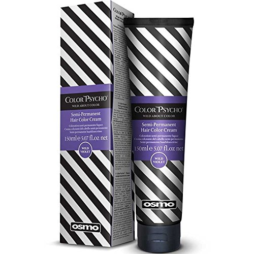 Color Psycho Tamer Crema de color semipermanente para el cabello, color violeta salvaje, 150 ml