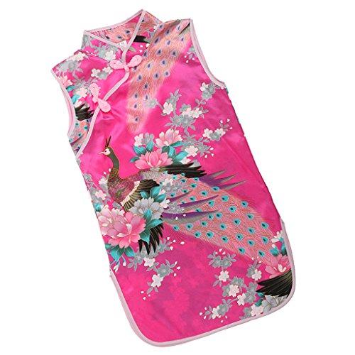 Sharplace Kinder Mädchen Qipao Cheongsam Geisha Kostüm Partykleider Asia Kinder Qipao Cosplay Kinder - Pink, 4