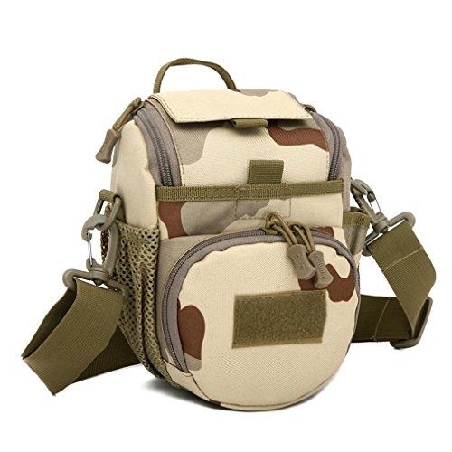 Handtasche / SLR Kameratasche / Tarnkamera Tasche / Messenger Bag Schulter / Tactical Assault Kleine ein Strap Sling Rucksack / Sport Packbag three camouflage
