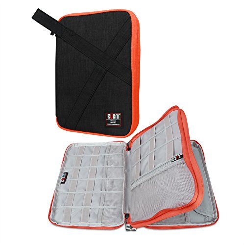 BUBM-Double-Layers-Handy-Travel-Gadget-Organiser-Electronics-Accessories-Bag-Battery-Charger-Case-for-iPad-Mini-and-Tablet-with-Handle