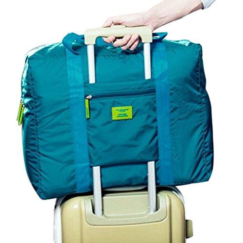 Ducomi Travelcity Borsa Pieghevole Impermeabile da Viaggio (Misura: 41 x 37 x 20 cm) (Green)