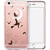 Cover iPhone 6S, TrendyBox Cute Trasparente Case Cover per iPhone 6 6S (Streghe di Halloween)