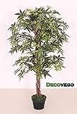 Ahorn Ahornbaum Kunstpflanze Kunstbaum Künstliche Pflanze mit Echtholz 120cm Decovego