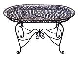 Tavolo da giardino 135 centimetri tavolo in ferro battuto in ferro mobili da