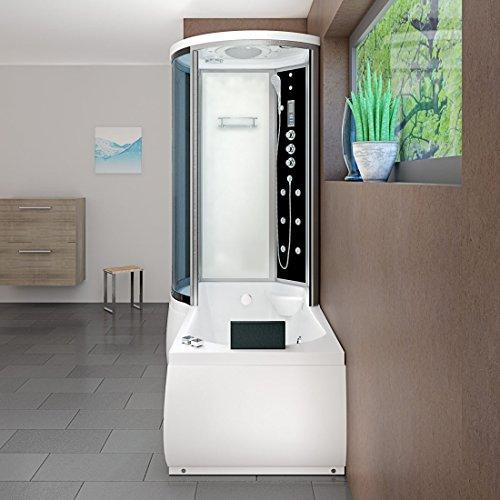 AcquaVapore DTP8055-A007R Whirlpool Wanne Duschtempel Dusche Duschkabine 98×170, EasyClean Versiegelung der Scheiben:2K Scheiben Versiegelung +79.-EUR - 3