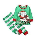 DOTBUY Kinder Zweiteiliger Schlafanzug, Junge und Mädchen Zweiteiliger Drucken Schlafanzug Langarm Pjs 100% Baumwolle