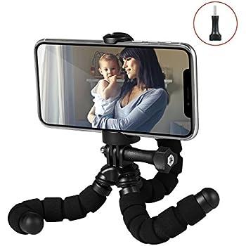 Fotopro RM-95 - Mini Trépied Flexible avec Support pour Smartphone - Noir