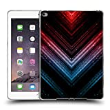Head Case Designs Offizielle PLdesign Schatten Blau Und Rot Glitzerndes Metall Soft Gel Hülle für iPad Air 2 (2014)