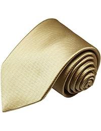Paul Malone corbata de seda (longitud normal, extra larga o estrecha) naranja uni