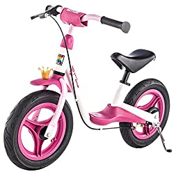 Kettler Laufrad Spirit Air Princess 2.0 - das ideale & verstellbare Lauflernrad - Kinderlaufrad mit Reifengröße: 12,5 Zoll - mit Luftbereifung - stabiles & sicheres Laufrad ab 3 Jahren - pink & weiß