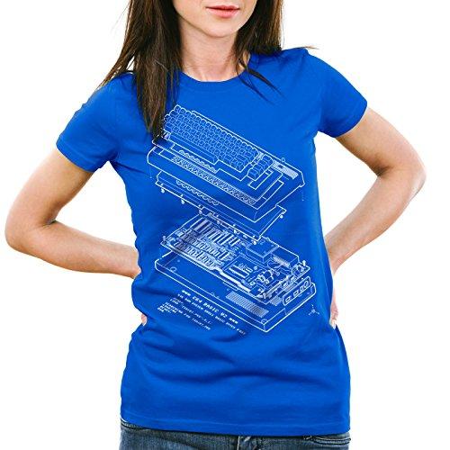 A.N.T. C64 Basic V2 Damen T-Shirt heimcomputer Classic Gamer, Größe:2XL