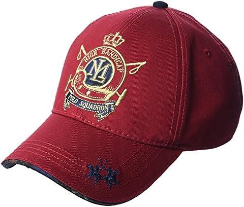La Martina Twill, Casquette de Baseball Mixte, Rouge (Rio Red),