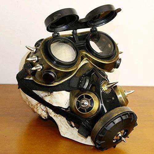 Kostüm Mit Gasmasken - LLU Steampunk Gasmaske Brille Halloween Requisiten Geschenk