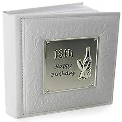 Idea Regalo - Album Fotografico Deluxe per 18esimo Compleanno, con Scritta Happy 18th Birthday