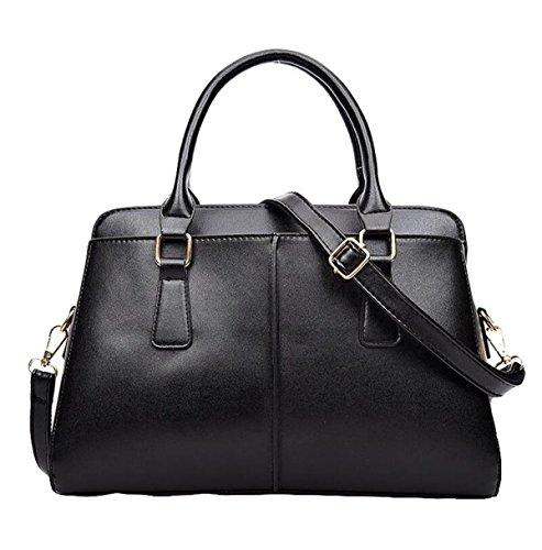 Frühlingsart Und Weisefrauen-Schulterbeutel-Diagonalpaket-Handtasche Einfaches Wildes Black